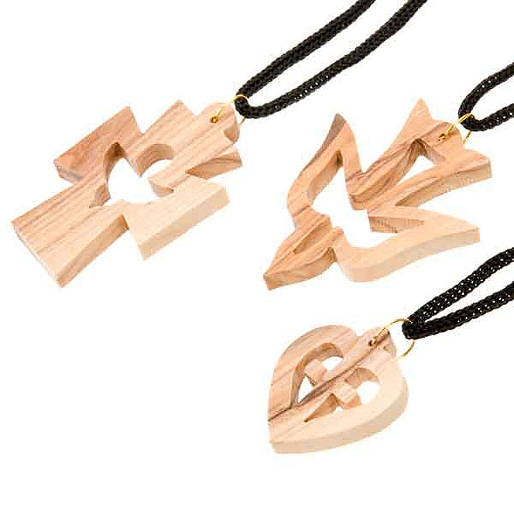 Pendente varie forme legno ulivo 4