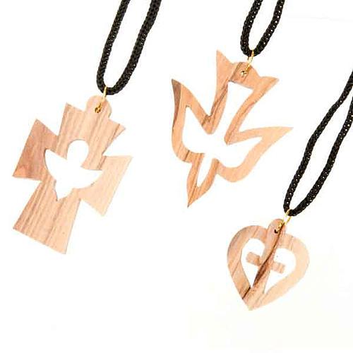 Pendente varie forme legno ulivo 1