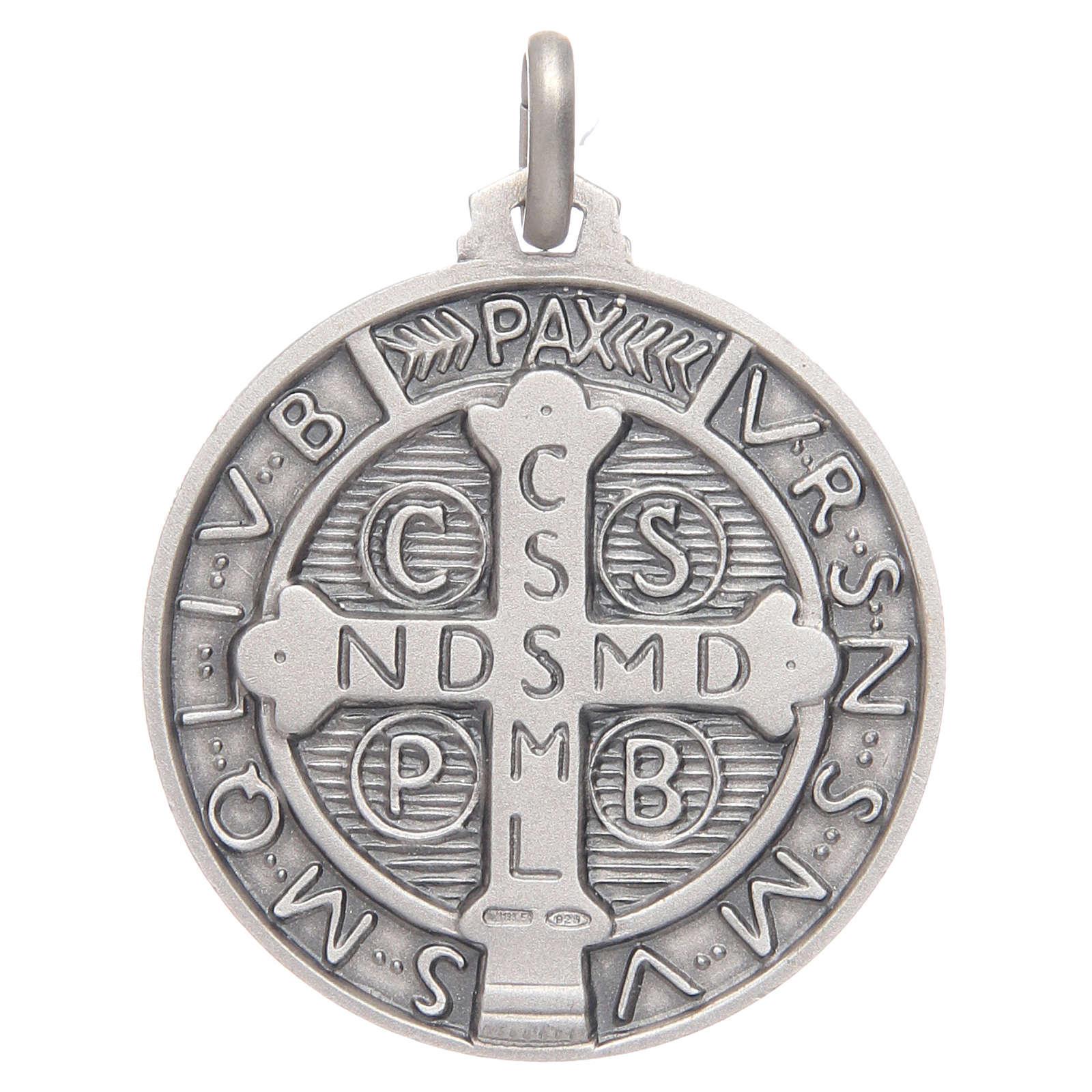 Saint Benedict medal silver 925 4