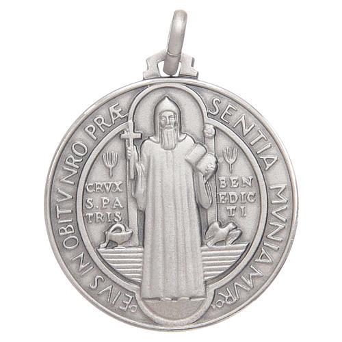 Medalla de S. Benito plata 925 1