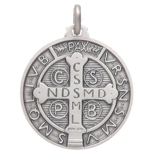 Medalla de S. Benito plata 925 2