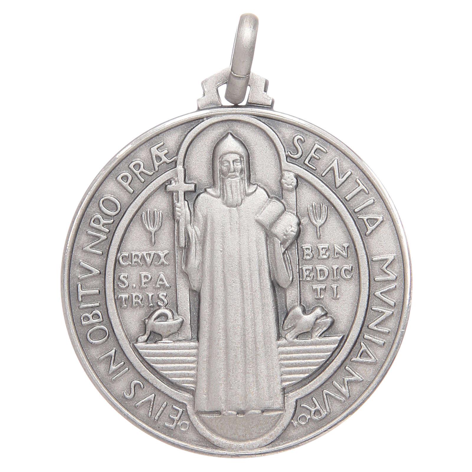 Medaglietta S. Benedetto argento 925 4
