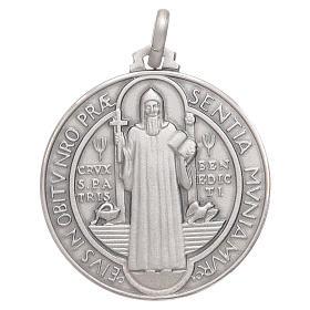 Croci di san Benedetto: Medaglietta S. Benedetto argento 925