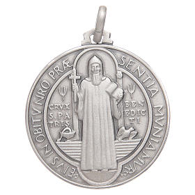 Medaglietta S. Benedetto argento 925 s1