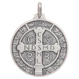 Medaglietta S. Benedetto argento 925 s2