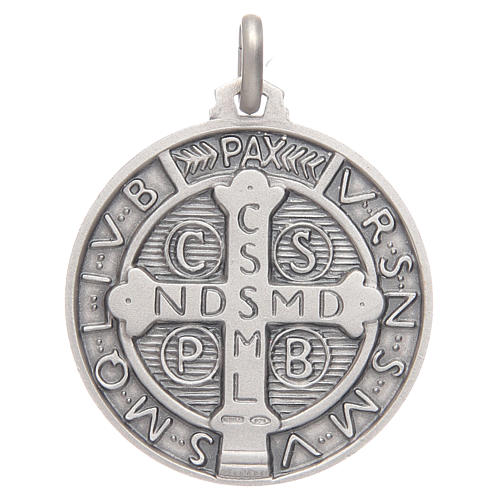Medaglietta S. Benedetto argento 925 2