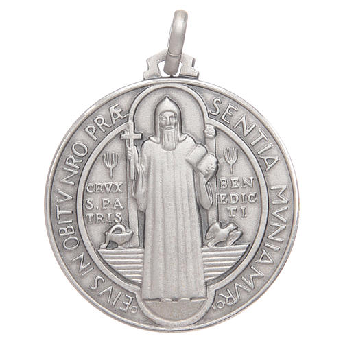 Saint Benedict medal silver 925 1