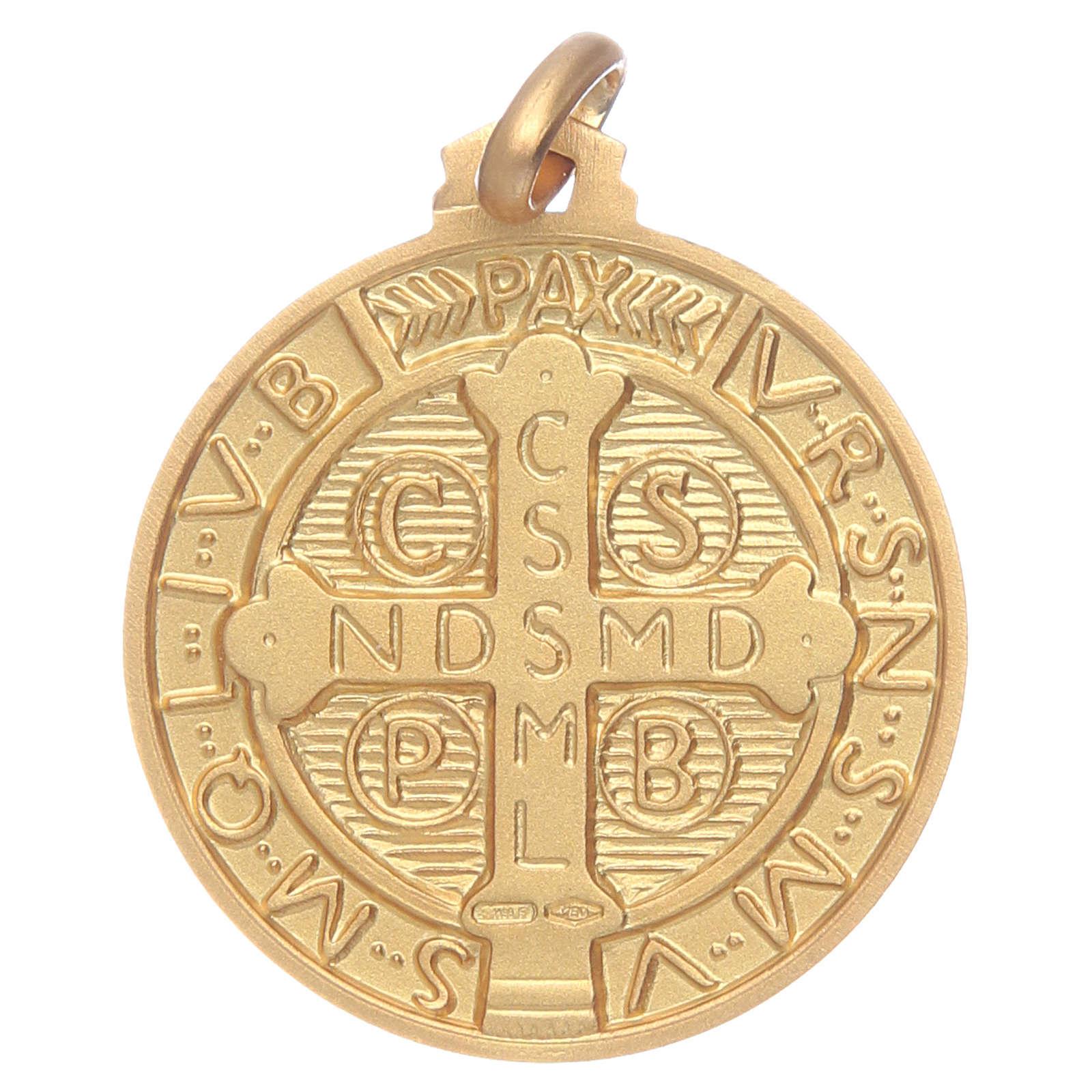 Saint Benedict 18K gold medal 4