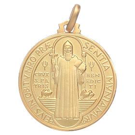 Saint Benedict 18K gold medal s1
