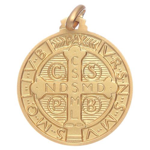 Medalik św. Benedykta złoto 18K 2