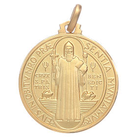 Medalha São Bento ouro 18K s1