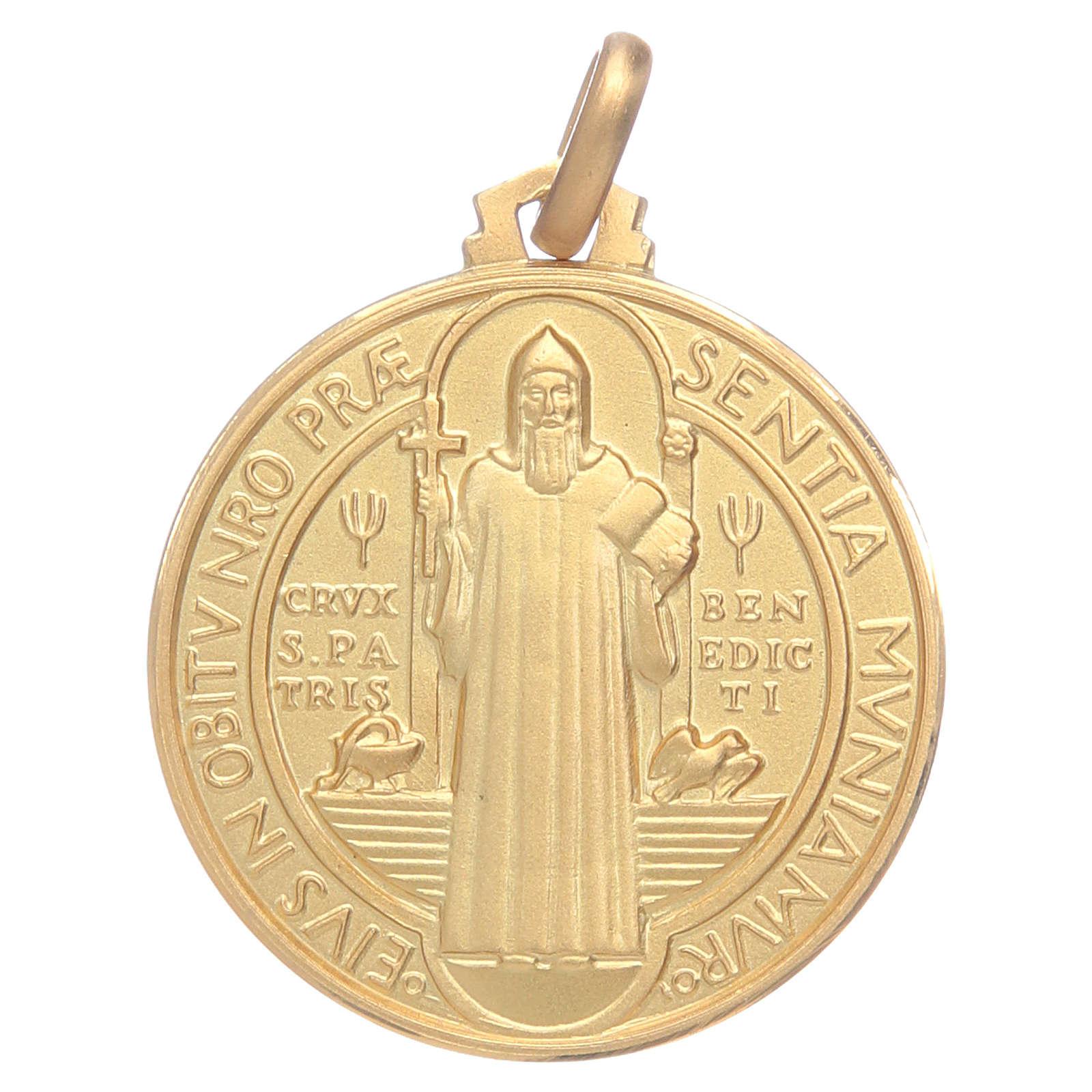saint benedict 18k gold medal online sales on holyart com