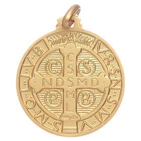 Saint Benedict 18K gold medal s2