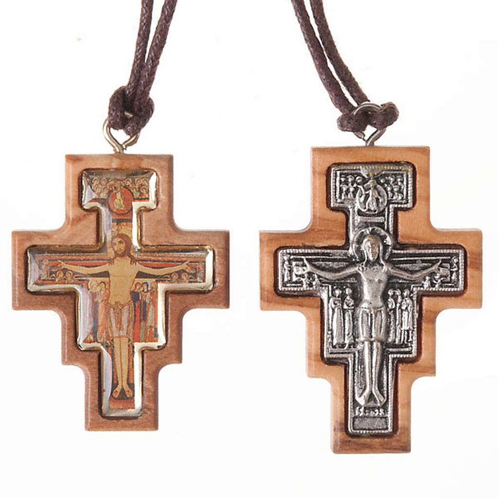 Olive wood Saint Damian cross 4