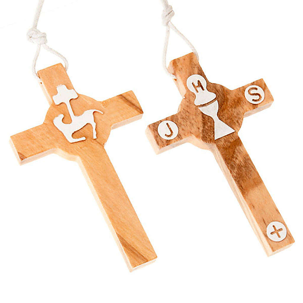 First Communion olive wood cross 4