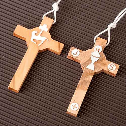 First Communion olive wood cross 2