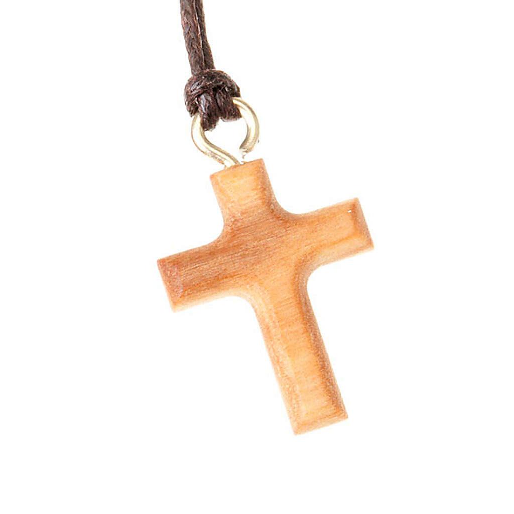 Pendant cross classic olive wood 4