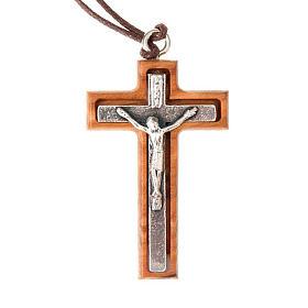 Colgantes Cruz Madera: Colgante crucifijo plateado
