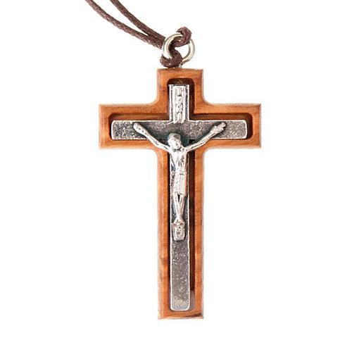 Colgante crucifijo plateado 1