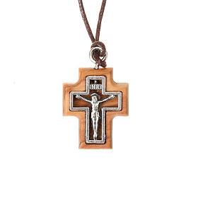 Colgantes Cruz Madera: Colgante crucifijo perforado