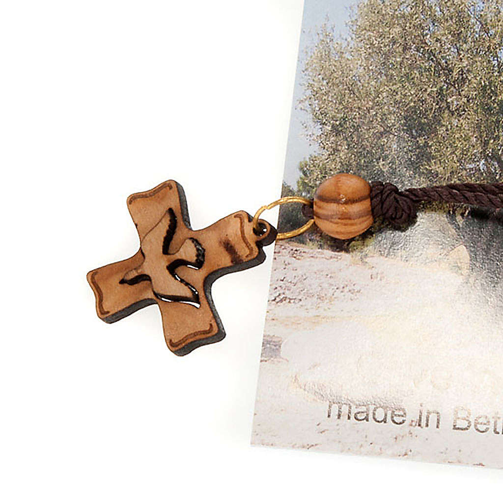 Pendente croce legno Terra Santa 4