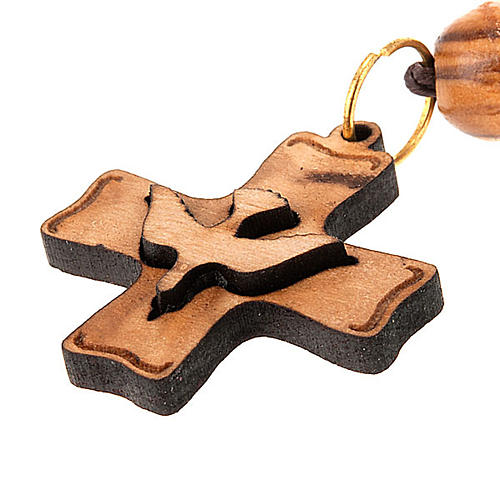 Pendente croce legno Terra Santa 1