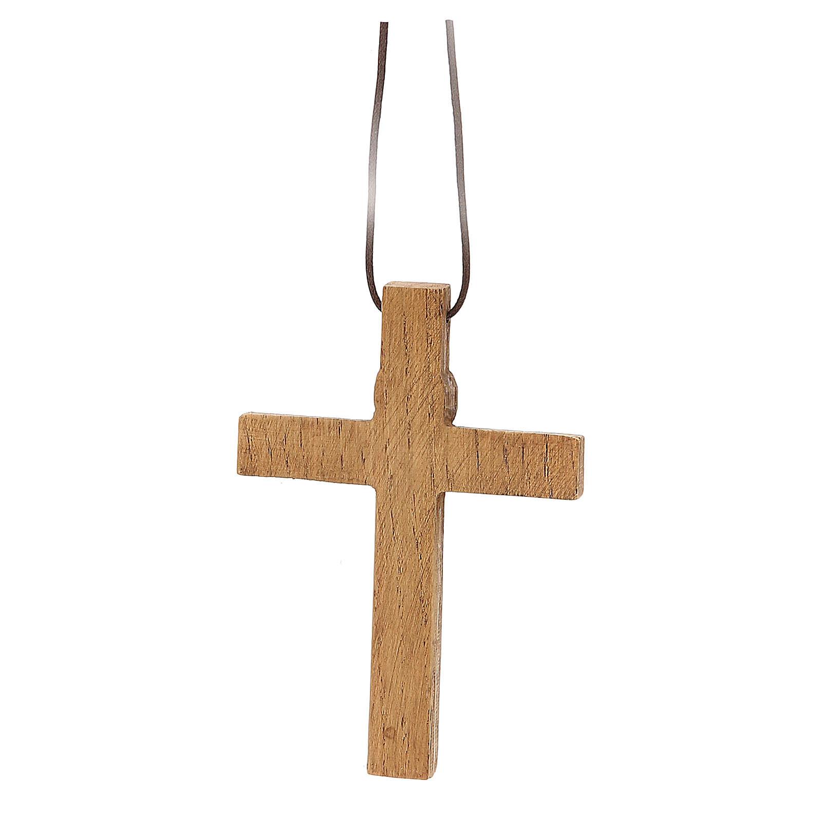 Crocifisso pettorale legno Bethléem 4