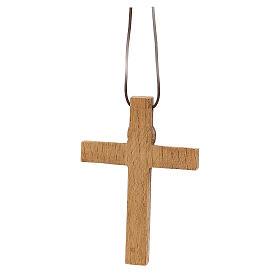 Crocifisso pettorale legno Bethléem s5