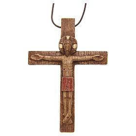 Crocifisso pettorale legno Bethléem s1