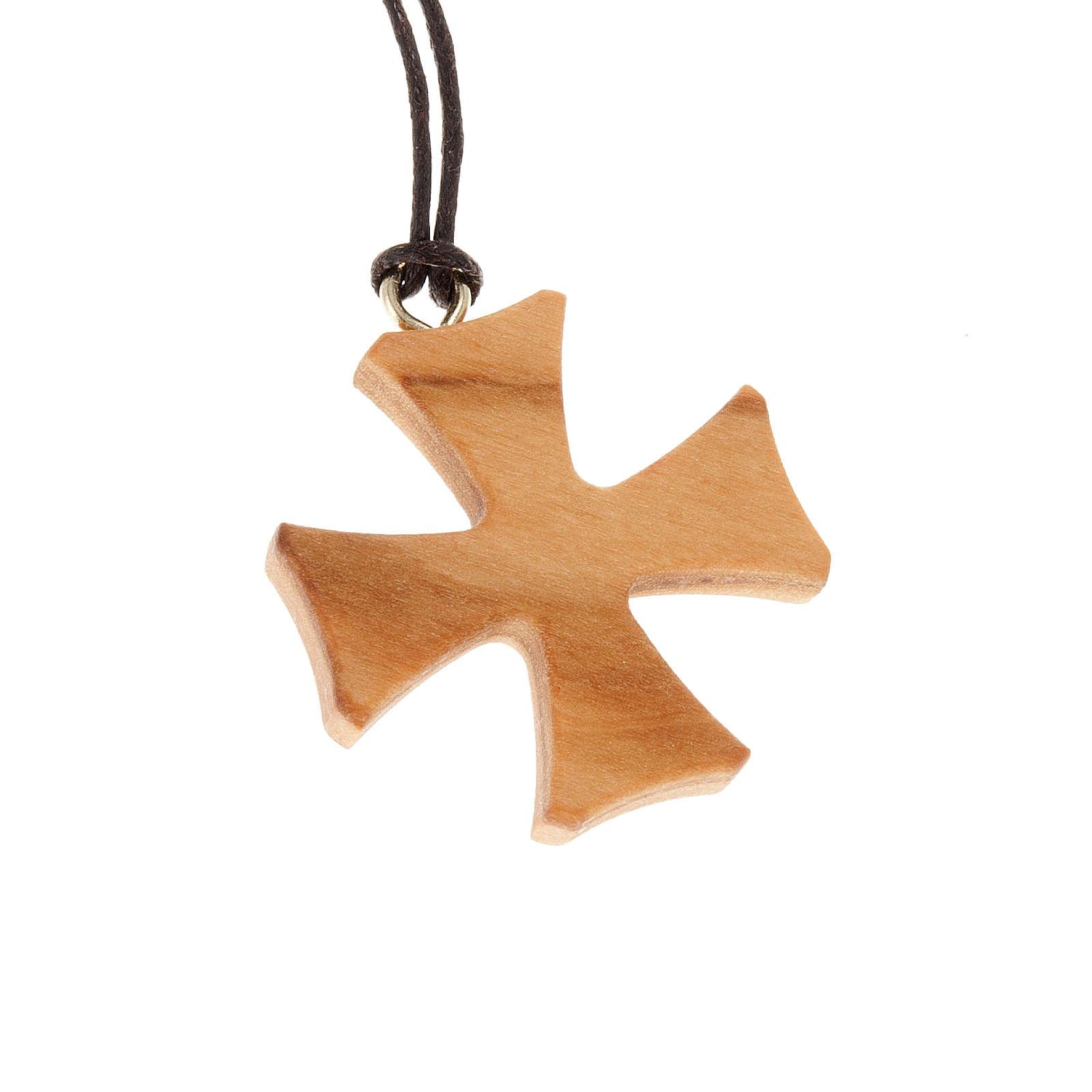 Croix de Malte bois d'olivier 4
