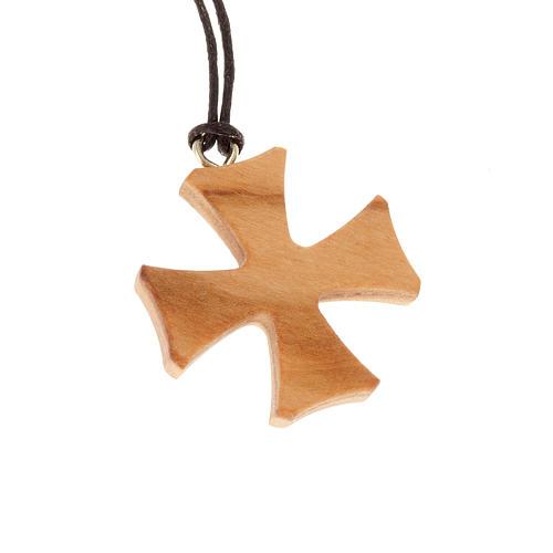 Croix de Malte bois d'olivier 1