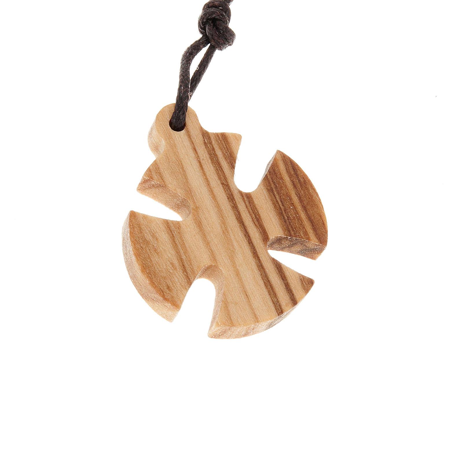 Croce di Malta legno olivo 2.5x2.5 4