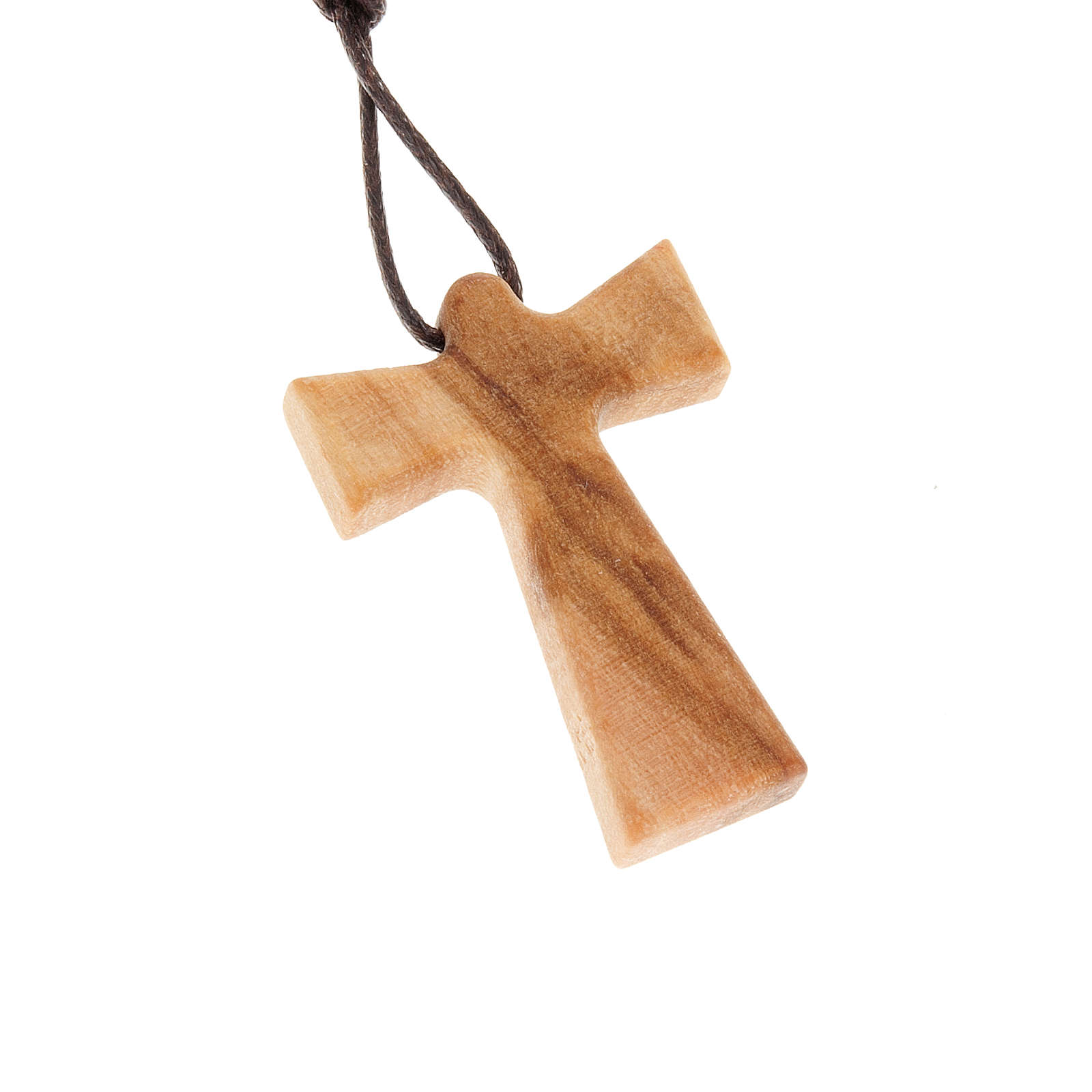Cross with angel in olive wood 4