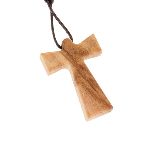 Cross with angel in olive wood 1