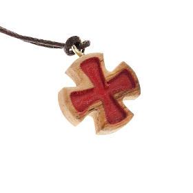 Croce di Malta incisa rossa s1
