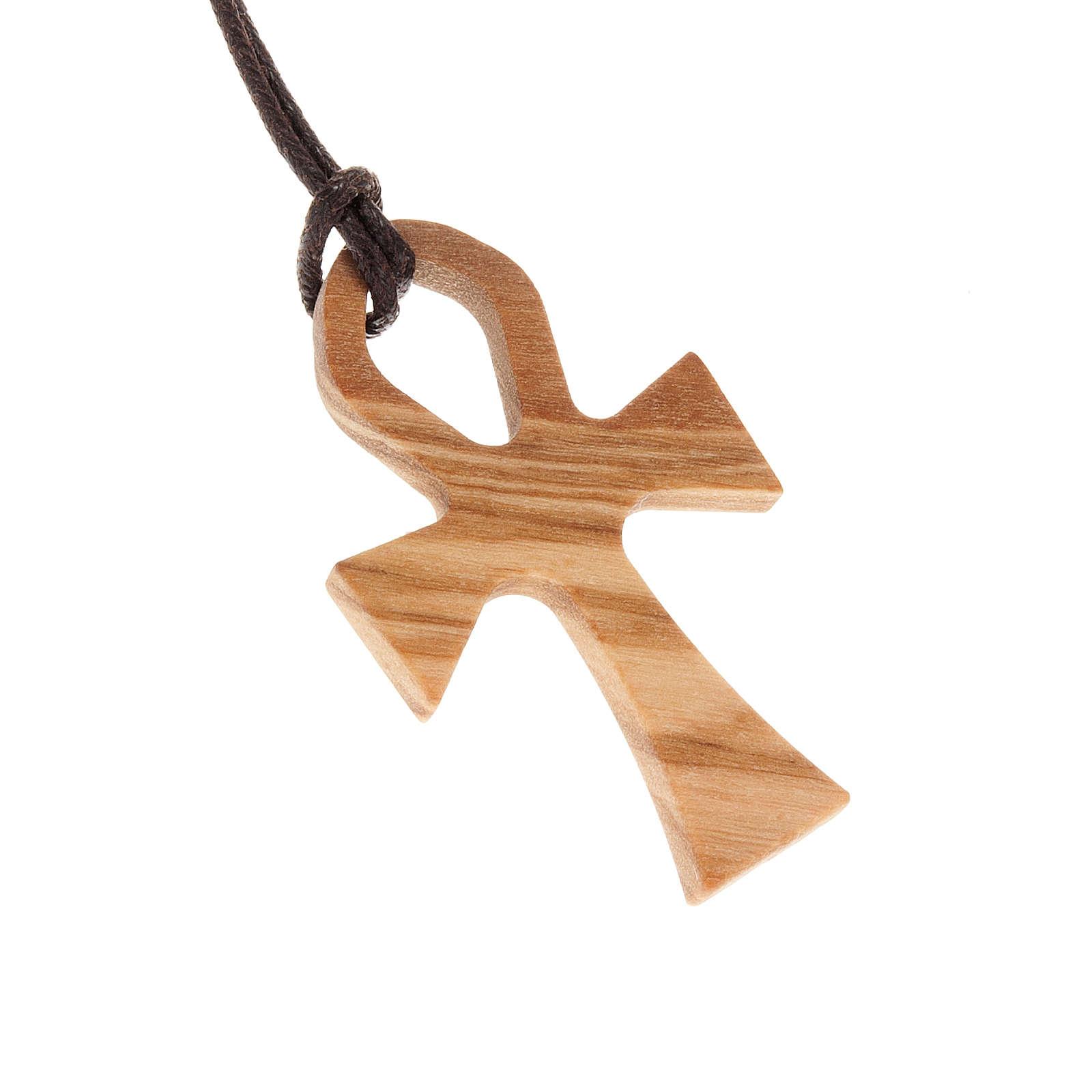 Kreuz des Lebens Olivenholz mit Band 4