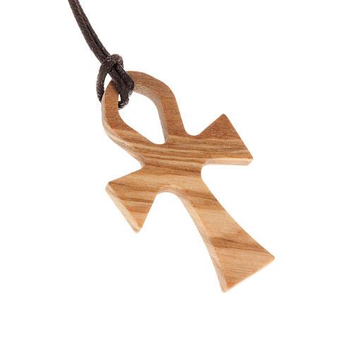 Kreuz des Lebens Olivenholz mit Band 1