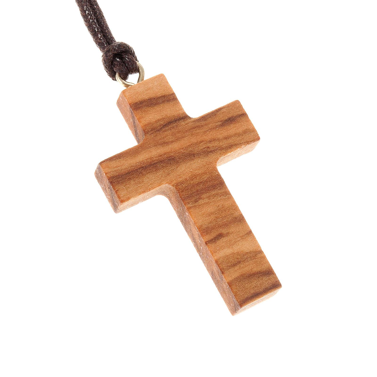 Croix classique bois d'olivier 4