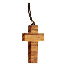 Croce classica legno d'olivo s2