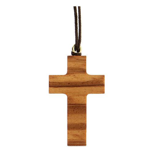 Croce classica legno d'olivo 1