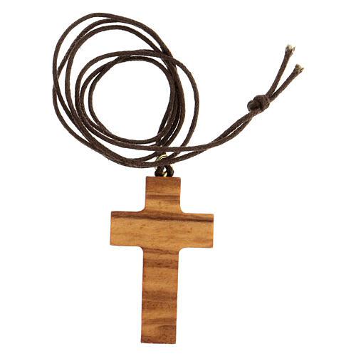 Croce classica legno d'olivo 3
