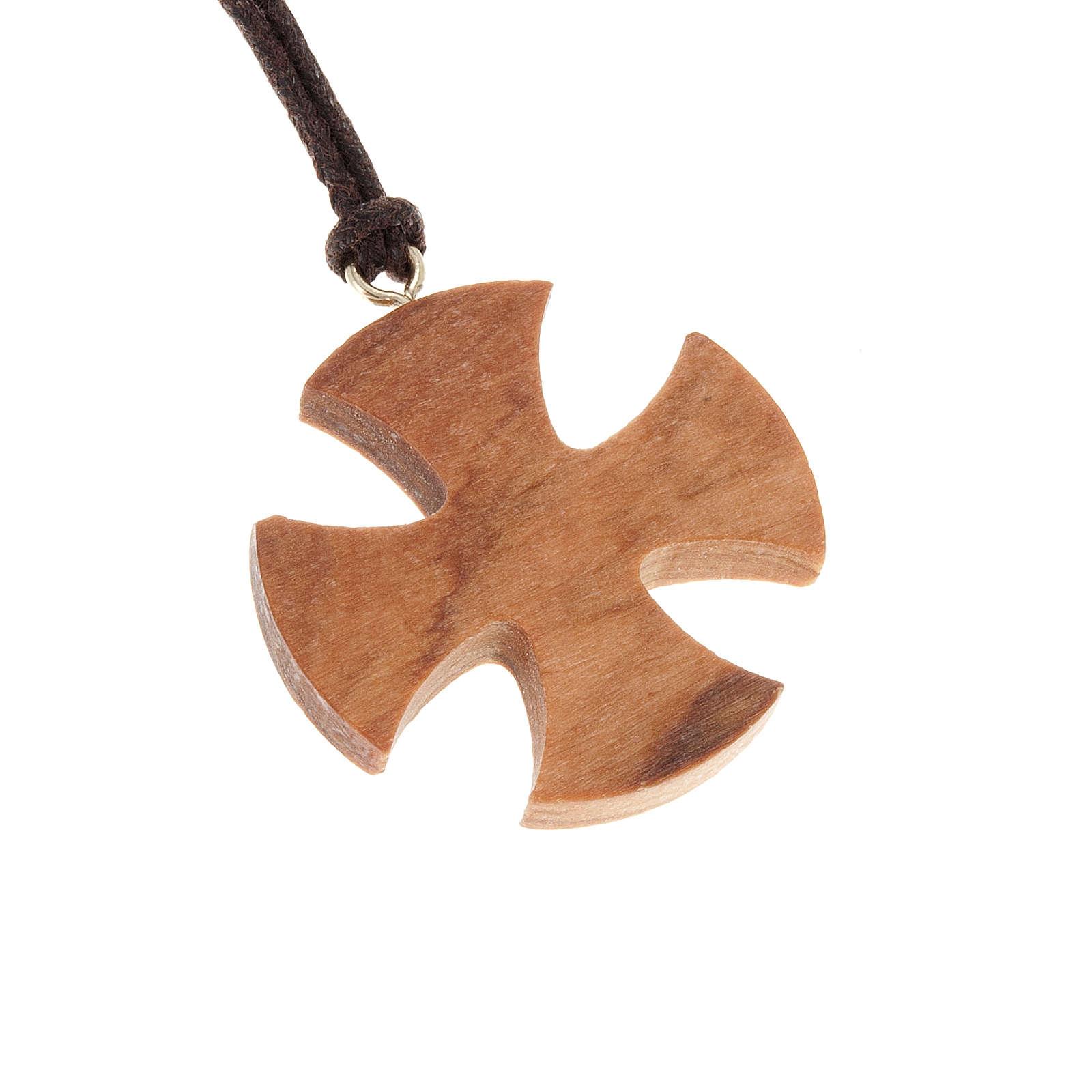 Croix de Malte bois d'olivier 3.5x3.5 4