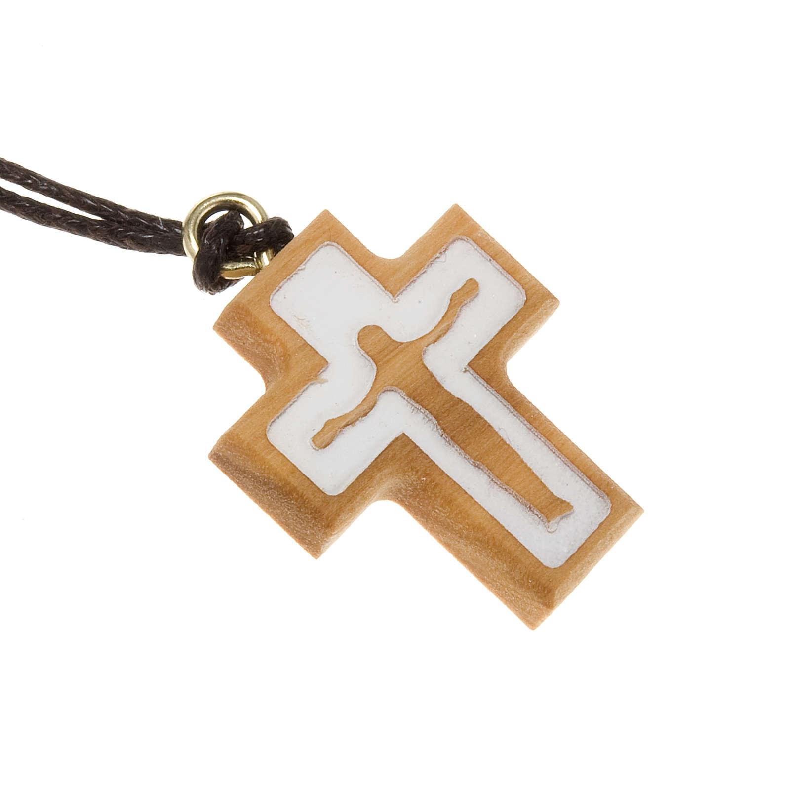 Croce olivo con rilievo corpo Gesù 4