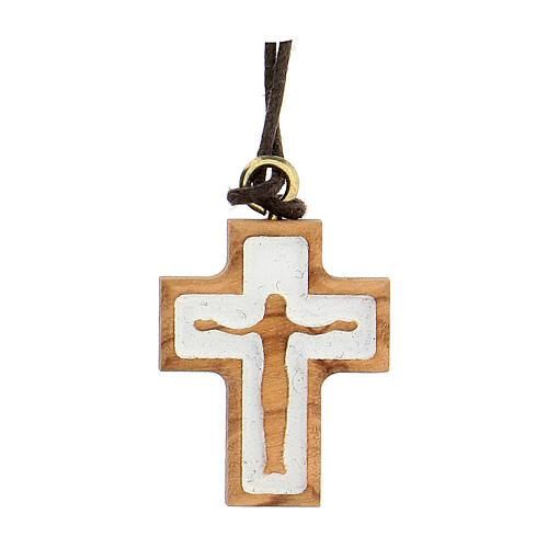 Croce olivo con rilievo corpo Gesù 1