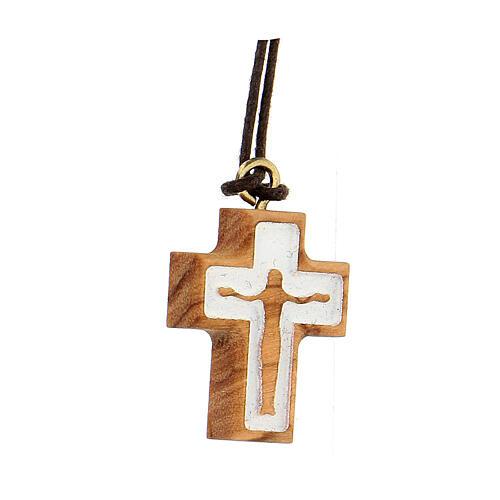 Croce olivo con rilievo corpo Gesù 2