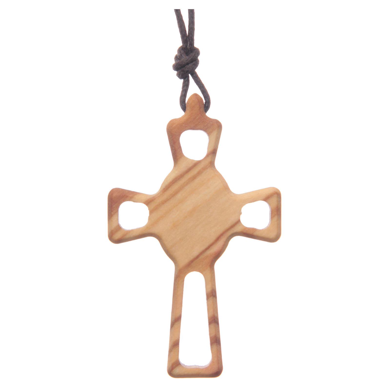 Pendente croce traforata Sacro Cuore 4