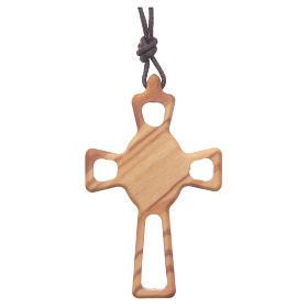 Pendente croce traforata Sacro Cuore s2