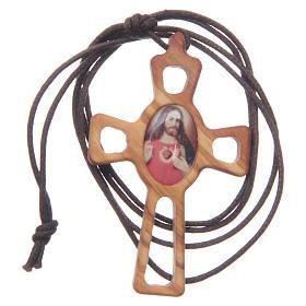 Pendente croce traforata Sacro Cuore s3