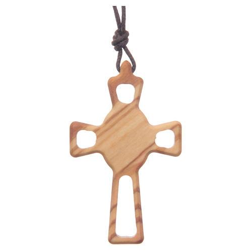Pendente croce traforata Sacro Cuore 2
