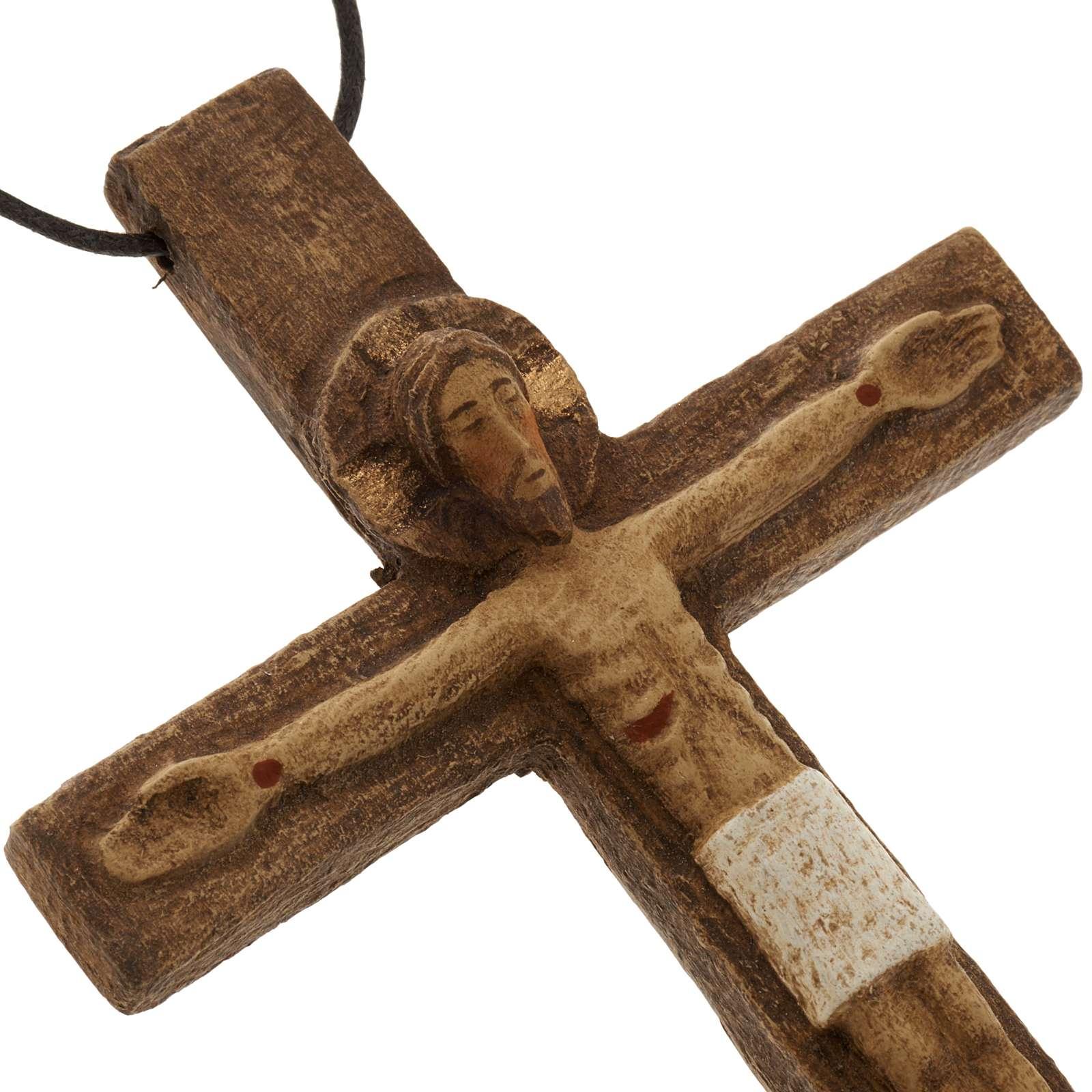 Crucifix pectoral bois monastère de Bethléem 4